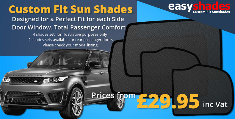 Easy Shades custom fit car sun blinds are easy to fit and safe for kids