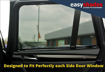 BMW X3 car sun shades and window blinds from easyshades.co.uk