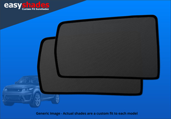 Easyshades Pair of Rear Passenger Door window Shades for Skoda Octavia models