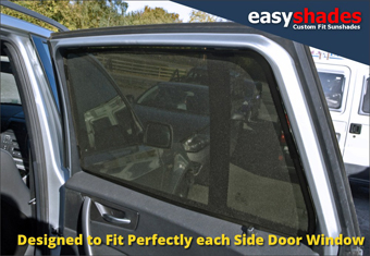 BMW X3  E83 Easy Shade Car Sun Shades provide customers with high quality vehicle privacy shades, screens blinds, door window shades for Kids, kiddy, baby  pet UV Protection for rear passengers