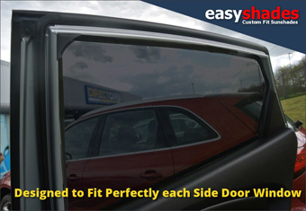 Hyundai ix35 Easy Shade Car Sun Shades provide customers with high quality vehicle privacy shades, screens blinds, door window shades for Kids, kiddi, baby  pet UV Protection for rear passengers