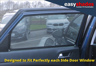 Hyundai Tucson 2015-on Easy Shade Car Sun Shades provide customers with high quality vehicle privacy shades, screens blinds, door window shades for Kids, kiddi, baby  pet UV Protection for rear passengers