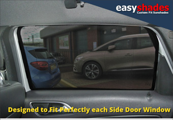 Mercedes Benz B-Class Easy Shade 2012-on Car Sun Shades provide customers with custom fit high quality vehicle privacy shades, screens blinds, door window shades for Kids, kiddi, baby  pet UV Protection for rear passengers