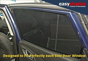 Renault Kadjar Easy Shade Car Sun Shades provide customers with high quality vehicle privacy shades, screens blinds, door window shades for Kids, kiddi, baby pet UV Protection for rear passengers