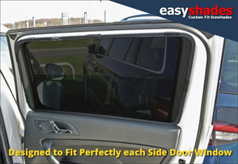 Skoda Yeti  Easy Shade Car Sun Shades provide customers with high quality vehicle privacy shades, screens blinds, door window shades for Kids, kiddi, baby pet UV Protection for rear passengers