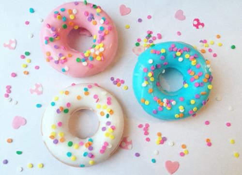 Pastel Sprinkled Donut Soap Set
