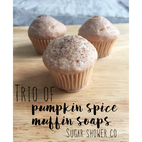 Trio of Pumpkin Spice Muffin Soaps