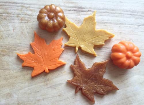 Fall Leaves and Pumpkin Soap Set