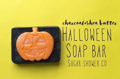 Charcoal + Shea Butter Halloween Soap Bar