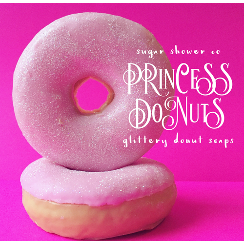 Princess Donut - Glittery Pink Donut Soap