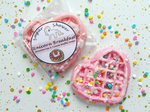 Mini Unicorn Breakfast Waffle Soaps - Strawberries & Cream