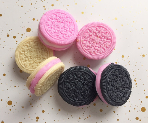 Sugar Shower Sandwich Cookie Soaps - Vanilla, Strawberry & Activated Charcoal Chocolate Cookies