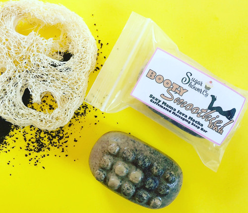 Booty Smoothie Bar - Caffeinated Massaging Soap - Sexy Mama Java Mocha