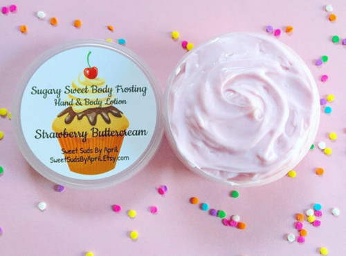 Strawberry Buttercream Body Frosting Hand Lotion