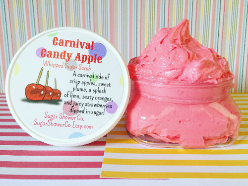 Carnival Candy Apple Whipped Sugar Scrub
