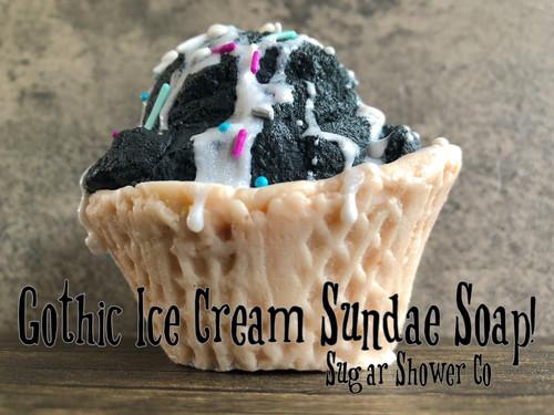 Gothic Ice Cream Sundae Soap