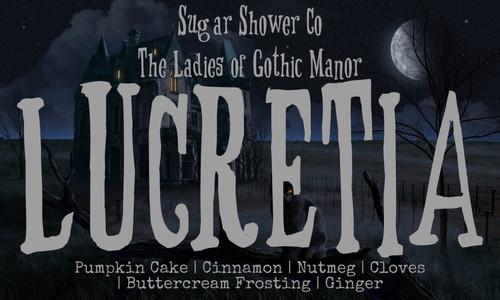 The Ladies of Gothic Manor - Lucretia - Pumpkin Cake | Cinnamon | Nutmeg | Cloves | Buttercream Frosting | Ginger