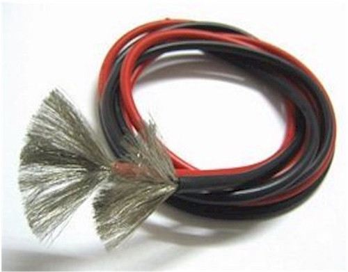 8 AWG Silicone Wire Red/Black 3'