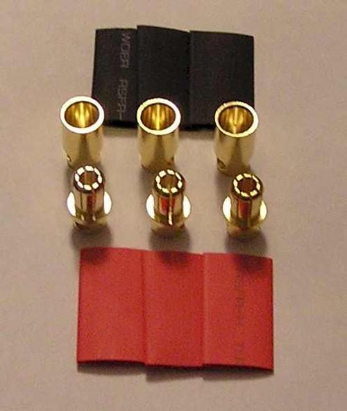 8.0mm bullet 3 Female & 3 Male package