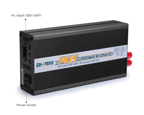 EV-Peak PU5 Power Supply 500 W 33 Amp