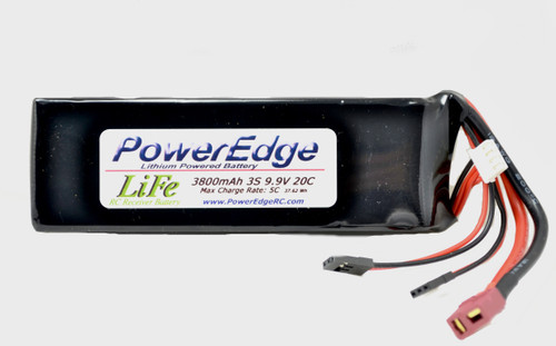 PowerEdge 3800 3S  LiFe Battery  9.9V 20C RX / ECU battery