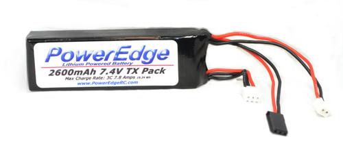 PowerEdge 2600 TX  LiPo Battery 2S 7.4 V Transmitter Pack