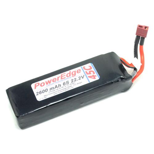 PE 2600 6S 22.2V 45C battery
