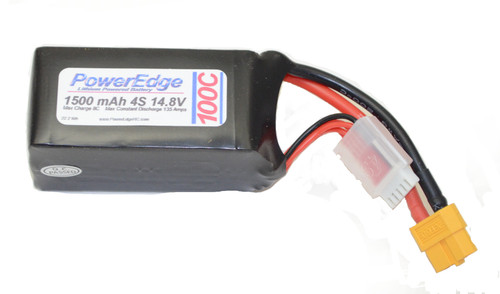 PowerEdge Lithium Battery 1500 4S 14.8V 100C battery