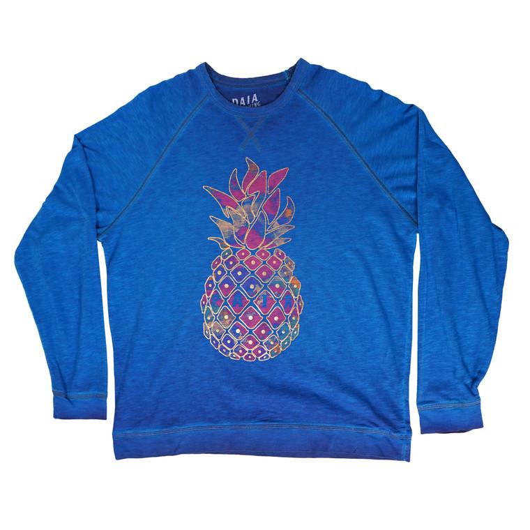 Pineapple Foil Long-Sleeved Slub Crew