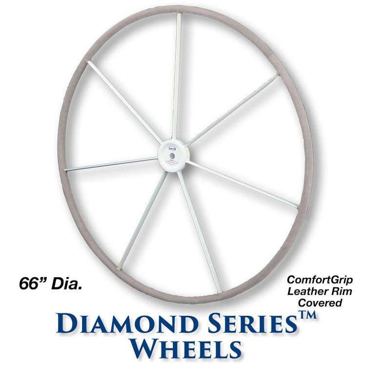 66-inch Diamond Series Wheel - ComfortGrip Leather Covered Rim