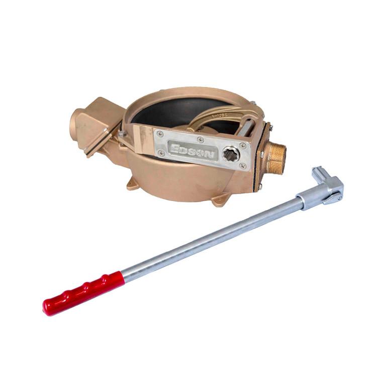 "Bronze Manual Offset Drive Side Inlet Pump (2"" Intake/Discharge) (55722)"