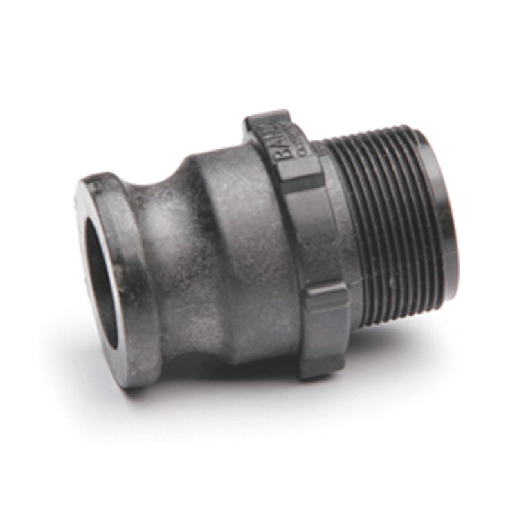 """Quick Clamp Adapter - 1.5"""" Male QC x 1.25"""" Male NPT - Polypropylene (157MM-125NY)"""