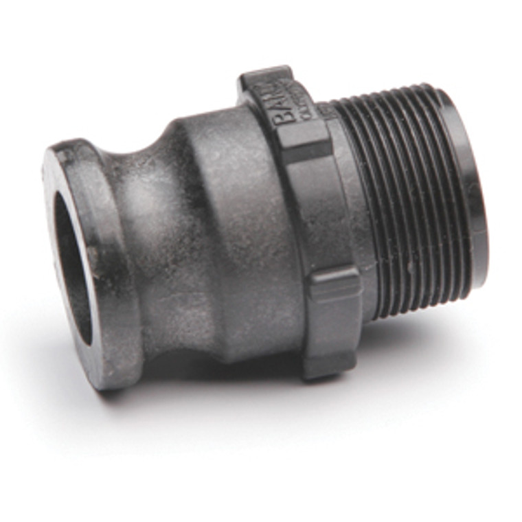 """Quick Clamp Adapter - 1.5"""" Male QC x 1.5"""" Male NPT - Polypropylene (157MM-150NY)"""