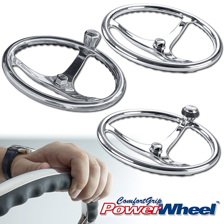 Polished Stainless Steel ComfortGrip PowerWheel