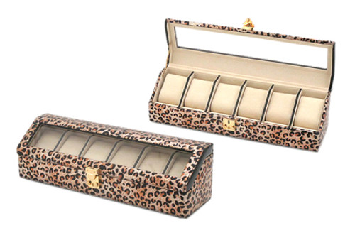 Leopard Print Watch and Bracelet Case