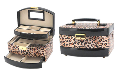 Super Cute Leopard Design Jewelry Box!
