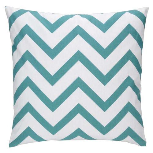 Blue Chevron Cushion