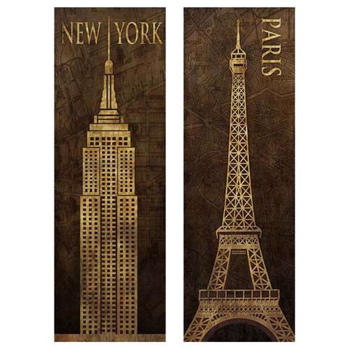 I love New York, I love Paris canvas wall art ships from Canada