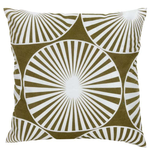 Abstract Green and White Flower Cushion Pillow