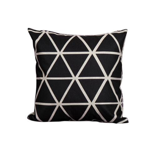 Black diamond cushion