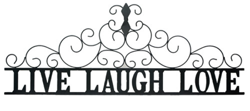 Live Laugh Love metal wall art large