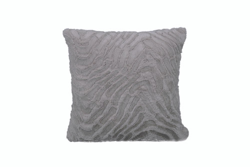 Soft gray textured pillow set of two 18 by 18 inches