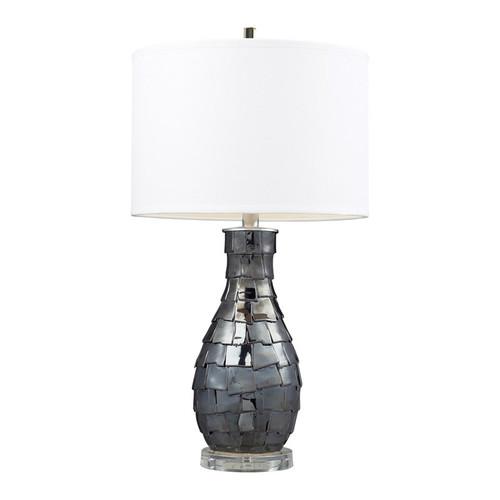 COOPER 25 in. ceramic charcoal pearl lamp