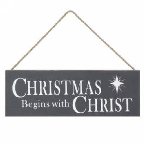 Christmas begins with Christ sign board Giftopolis.ca