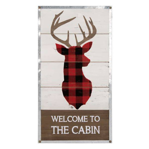 Welcome to the Cabin Wall Plaque
