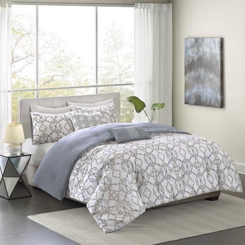 Sonoma King Comforter Set Blue/Taupe 5pcs