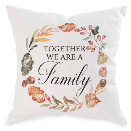 Together we are a family decorative throw pillow ships from canada