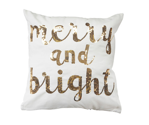 Merry and Bright Christmas Throw Pillow