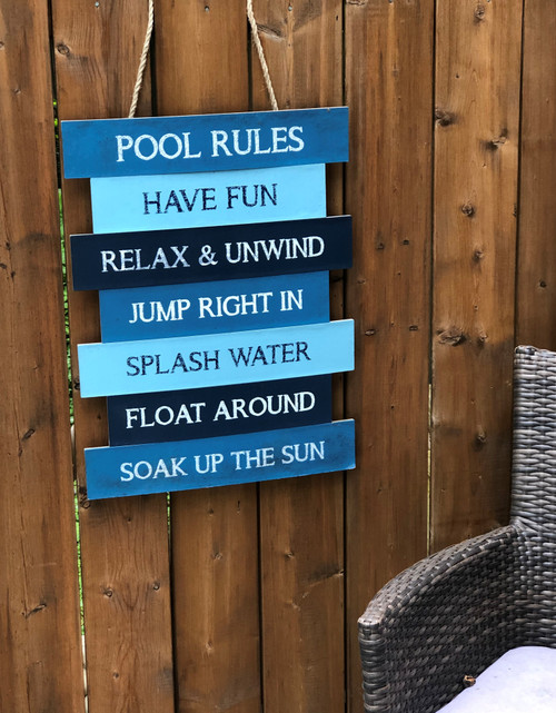 Summer Poolside Rules' Quote sign