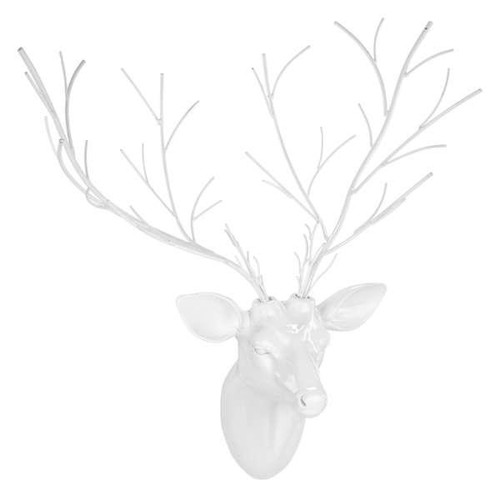 Winter White Wall Mounted Deer Head